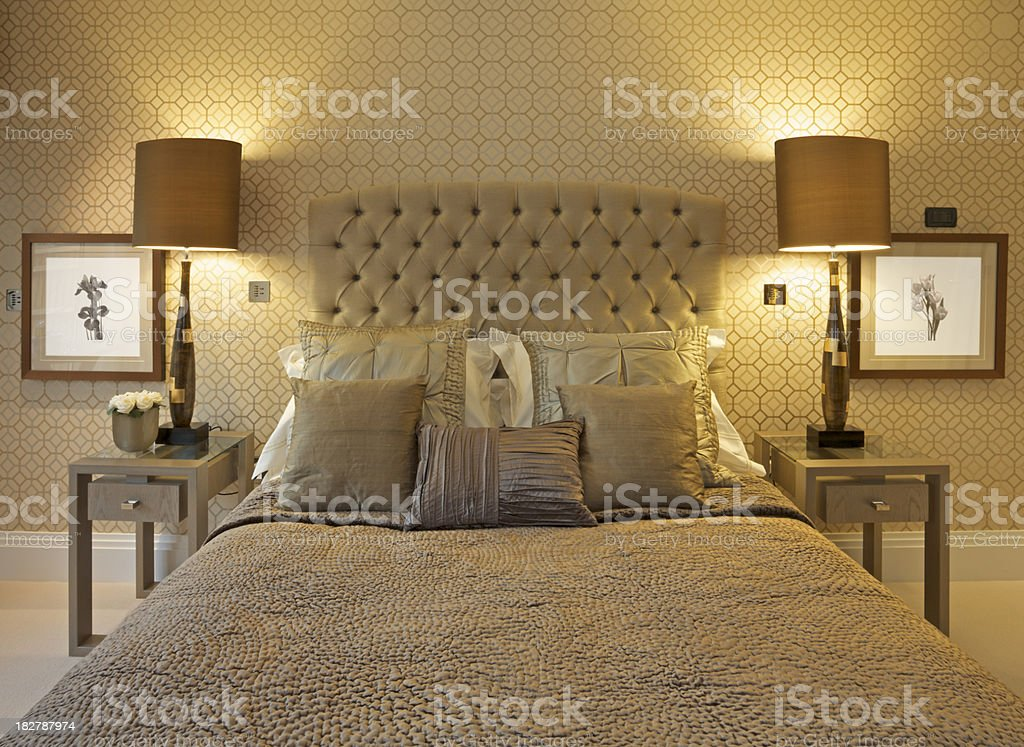 luxury bed royalty-free stock photo