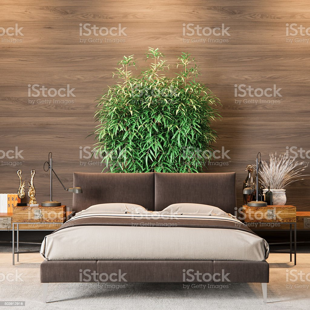 Luxury Bedroom Interior stock photo