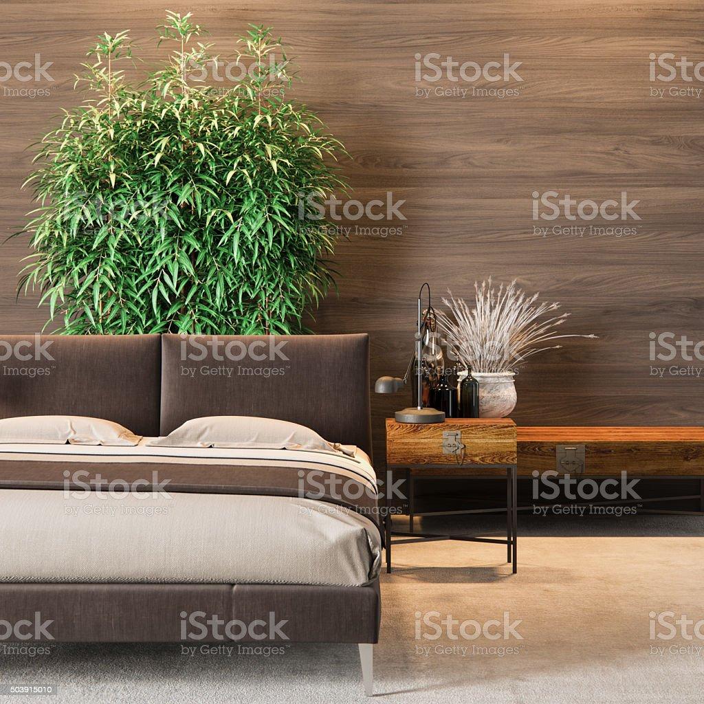 Luxury Bedroom Interior stock photo