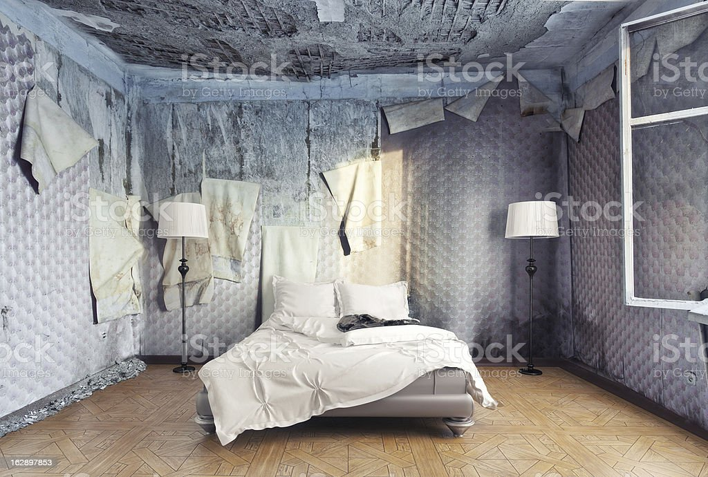 luxury bedroom stock photo