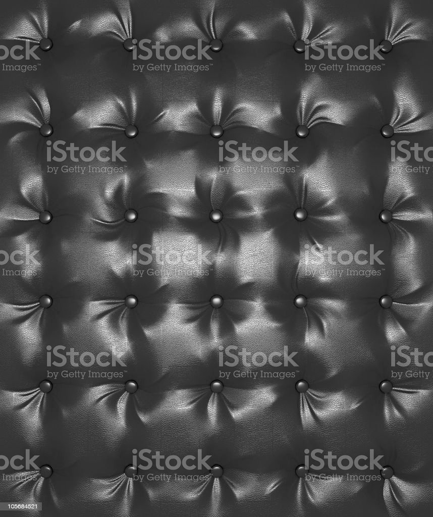 XXXL Luxury Black buttoned leather texture royalty-free stock photo