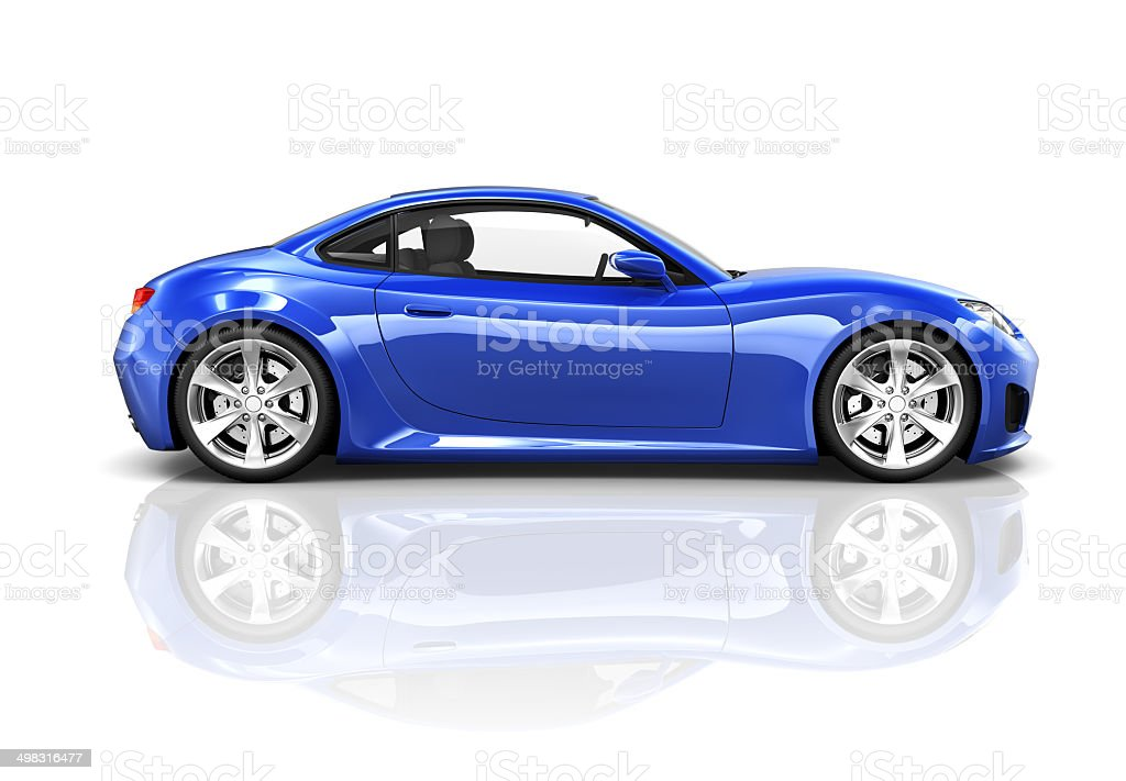 Luxury Blue Sports Car stock photo