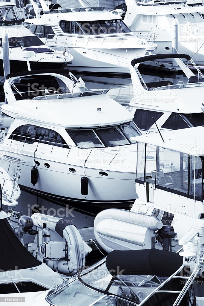 XXL luxury boats close-up royalty-free stock photo
