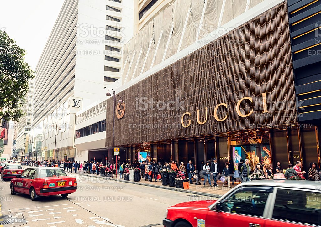 Luxury Brands in Hong Kong stock photo