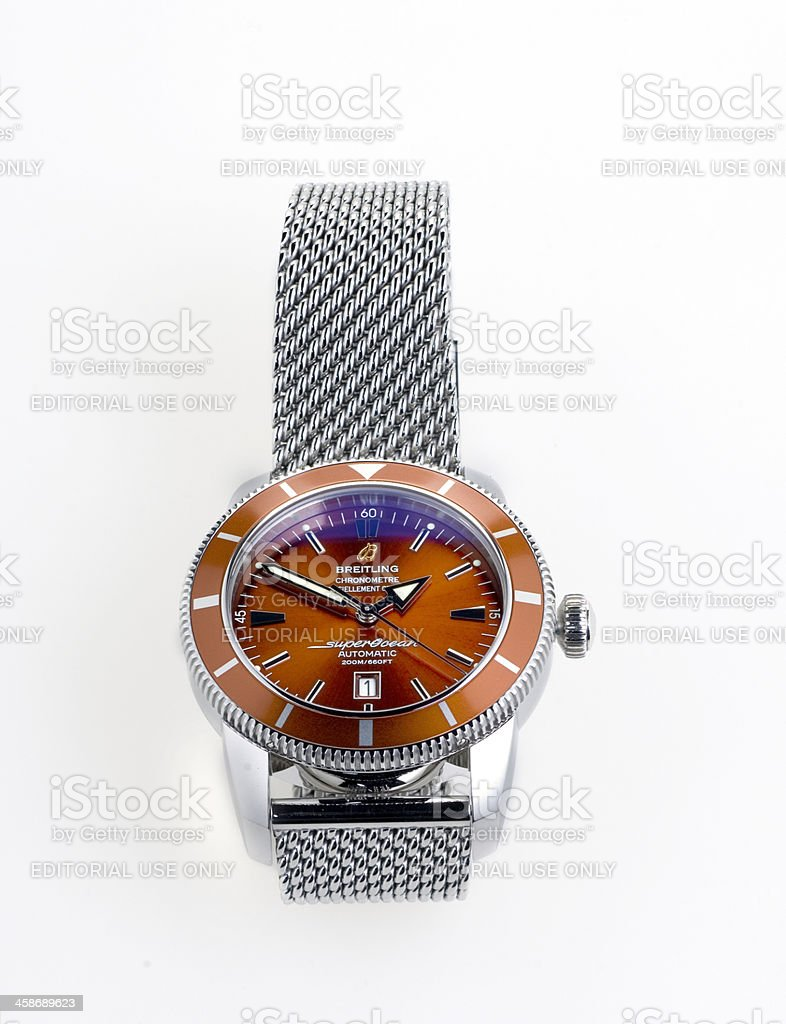 luxury Breitling wristwatch stock photo