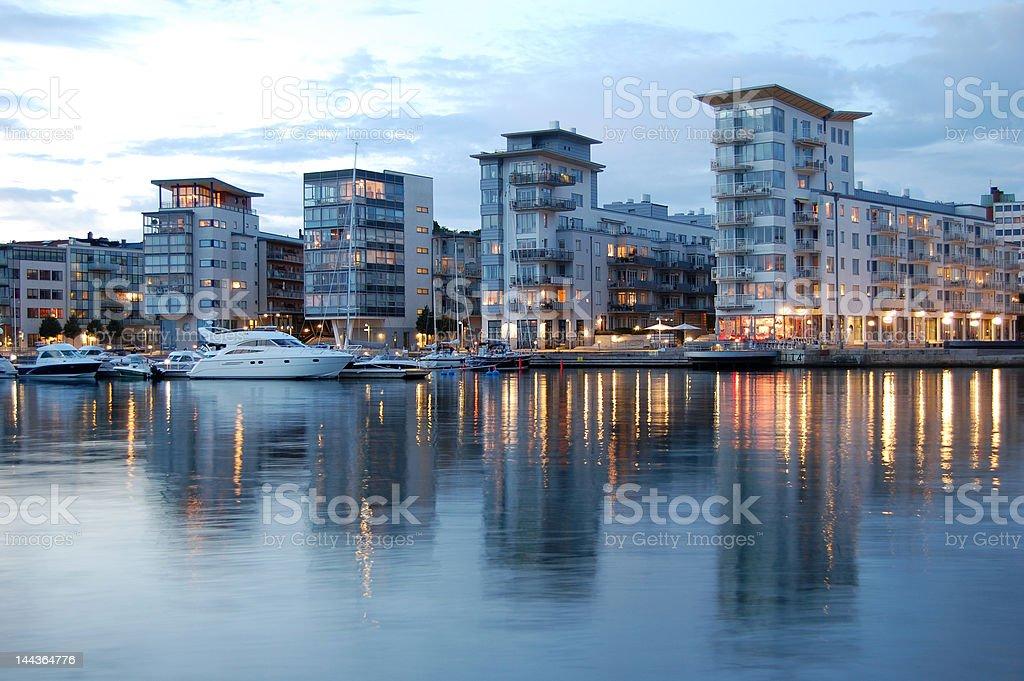 Luxury buildings in Helsingborg, Sweden stock photo