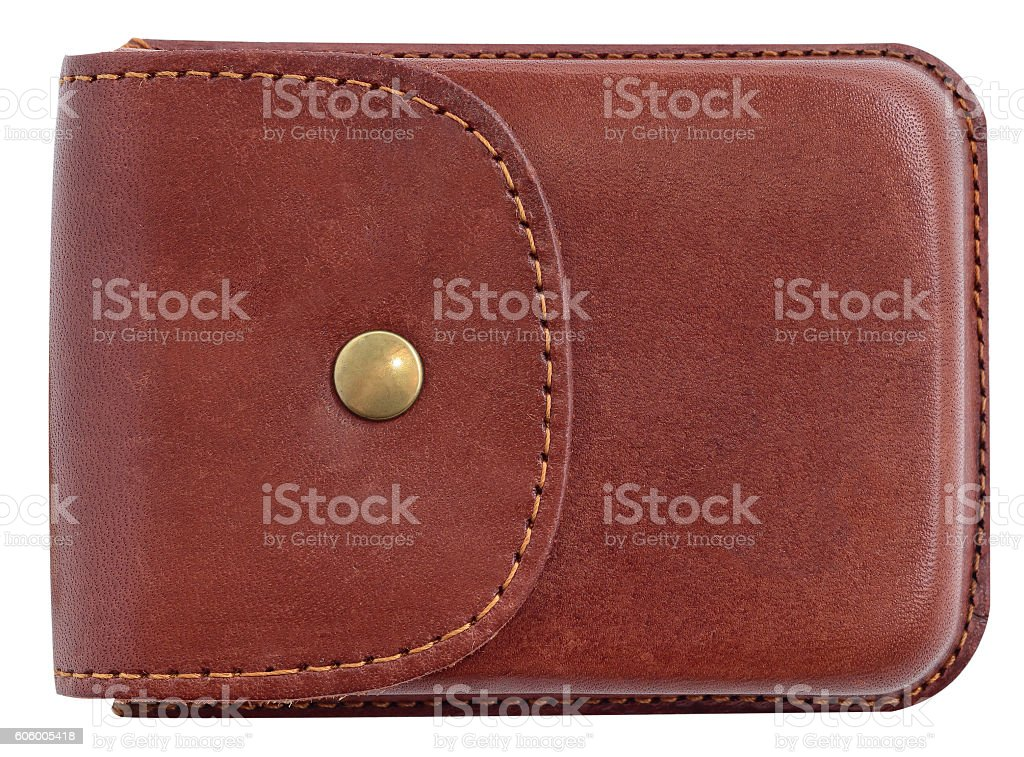 Luxury business card holder case made of leather. stock photo