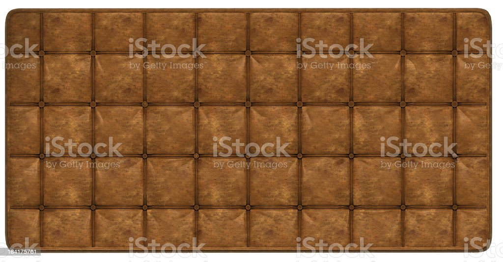 Luxury buttoned brown leather pattern royalty-free stock photo