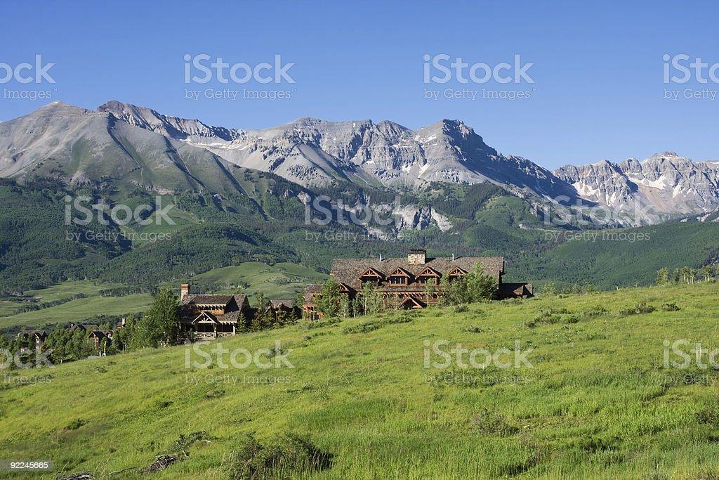 Luxury cabins royalty-free stock photo