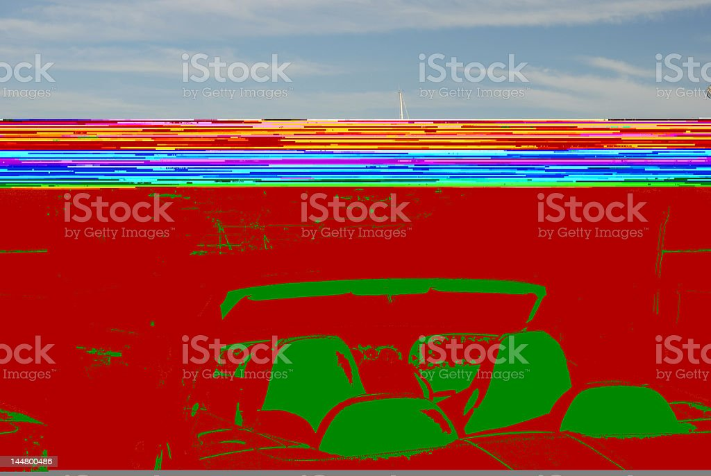 Luxury car and yachts royalty-free stock photo