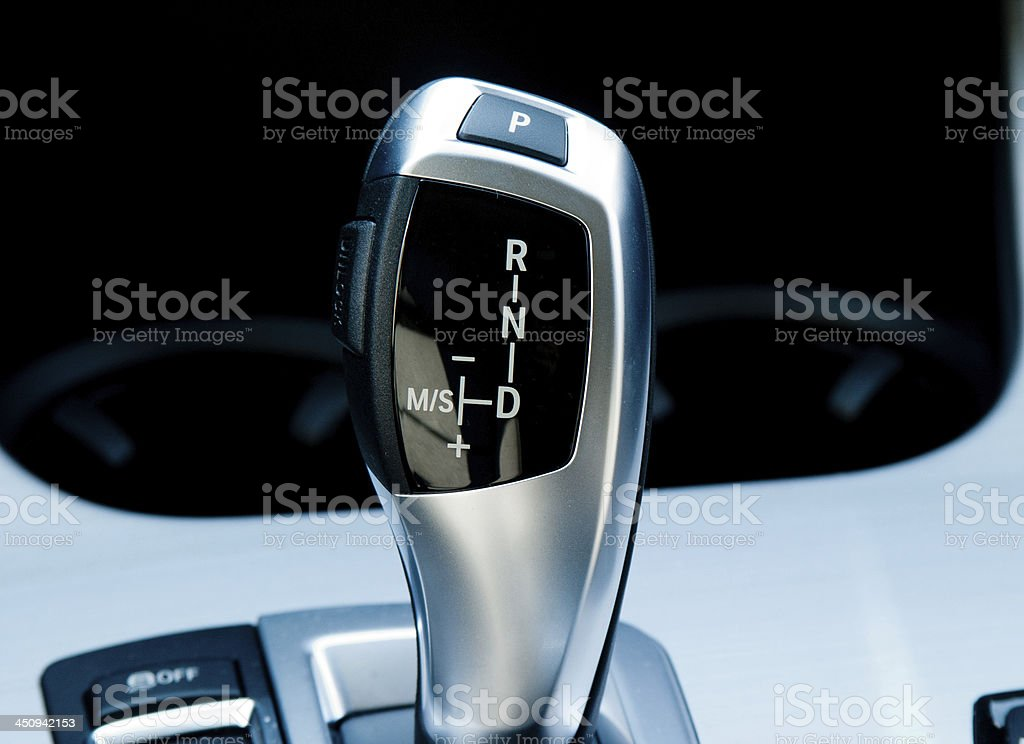 Luxury Car Gear Shifter stock photo
