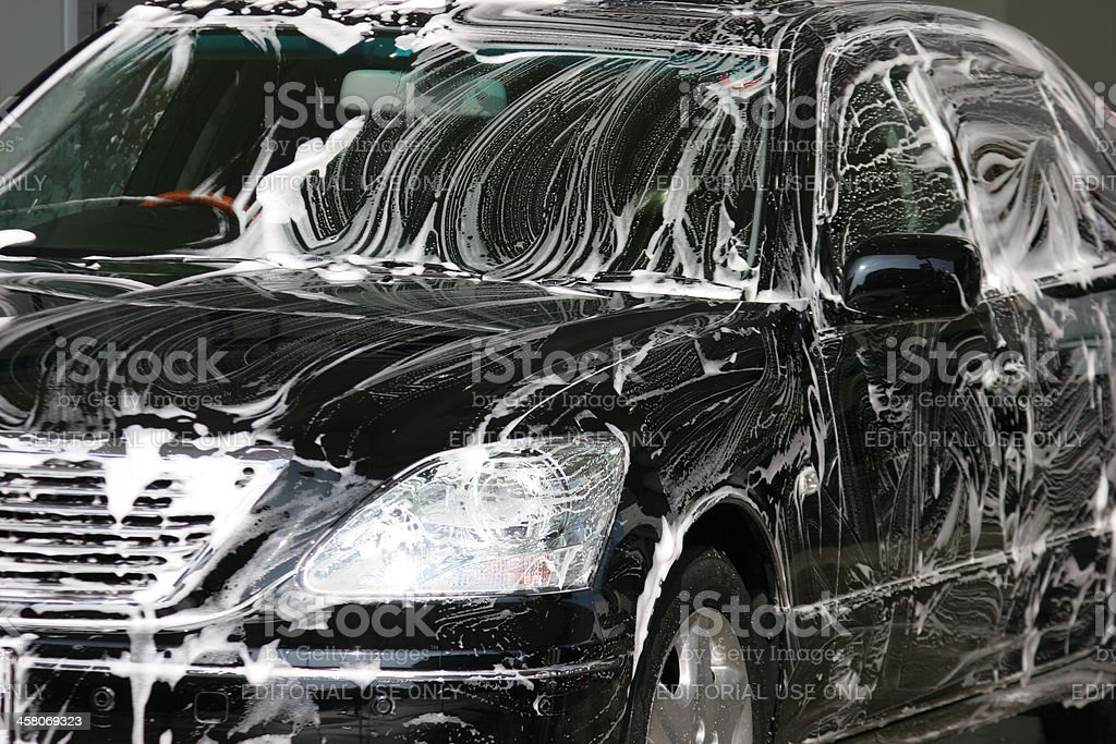 Luxury Car Hand Wash royalty-free stock photo