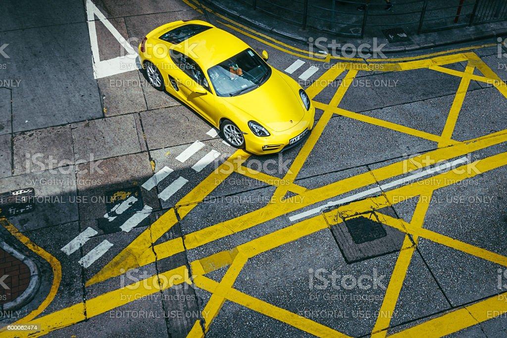 Luxury Car in Hong Kong, China stock photo