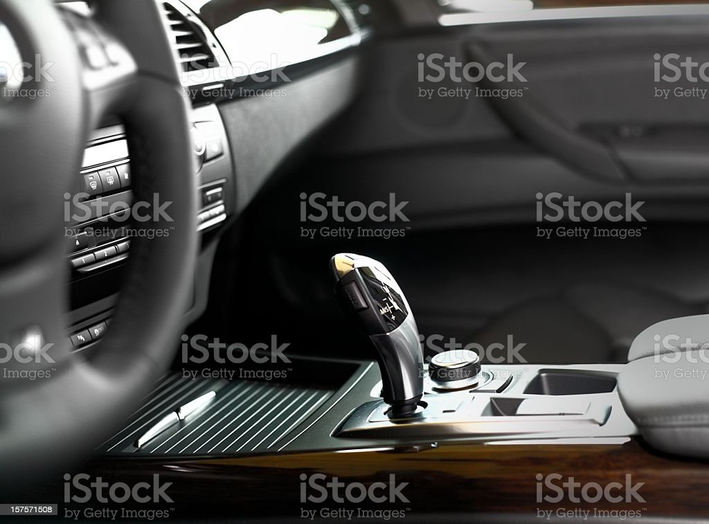 Luxus car interior royalty-free stock photo