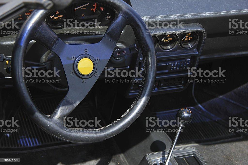 Luxury car interior royalty-free stock photo