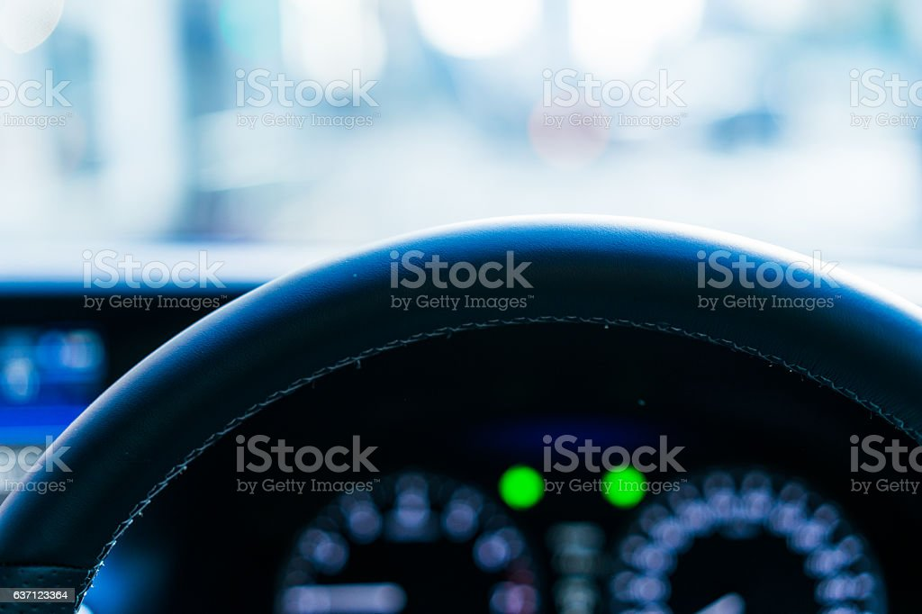Luxury car interior stock photo