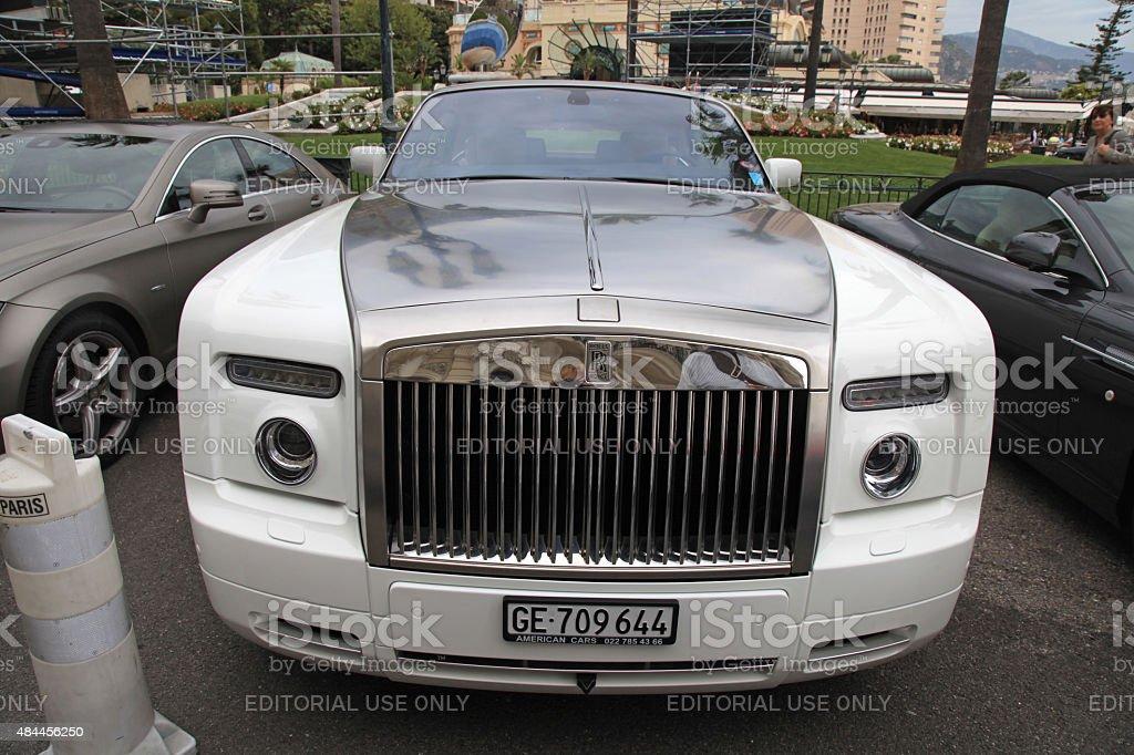 Luxury car Rolls Royce, Monte-Carlo Casino, Monaco. stock photo