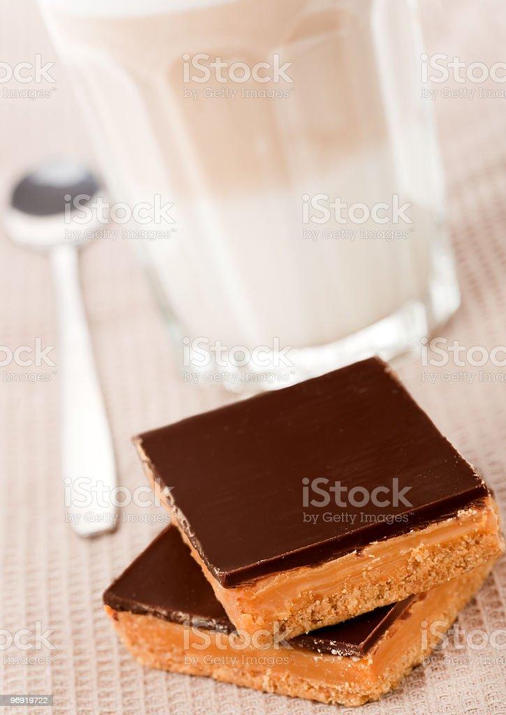 Luxury caramel shortcakes royalty-free stock photo