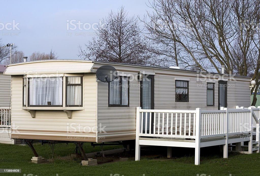 Luxury caravan, static holiday home royalty-free stock photo