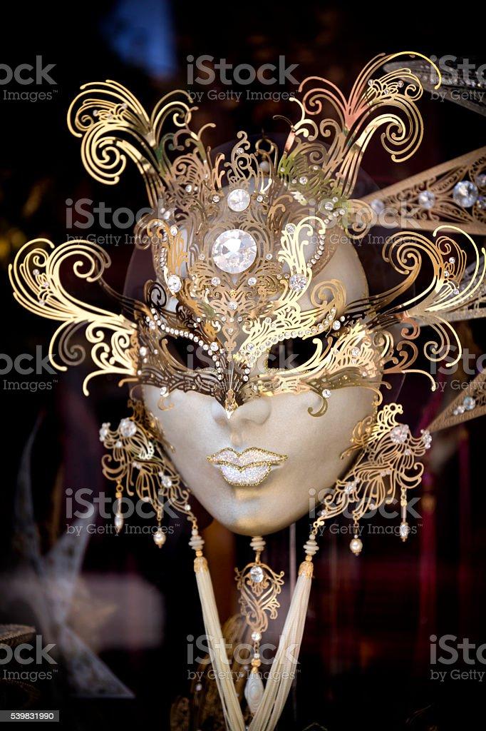 Luxury carnival mask in Venice stock photo