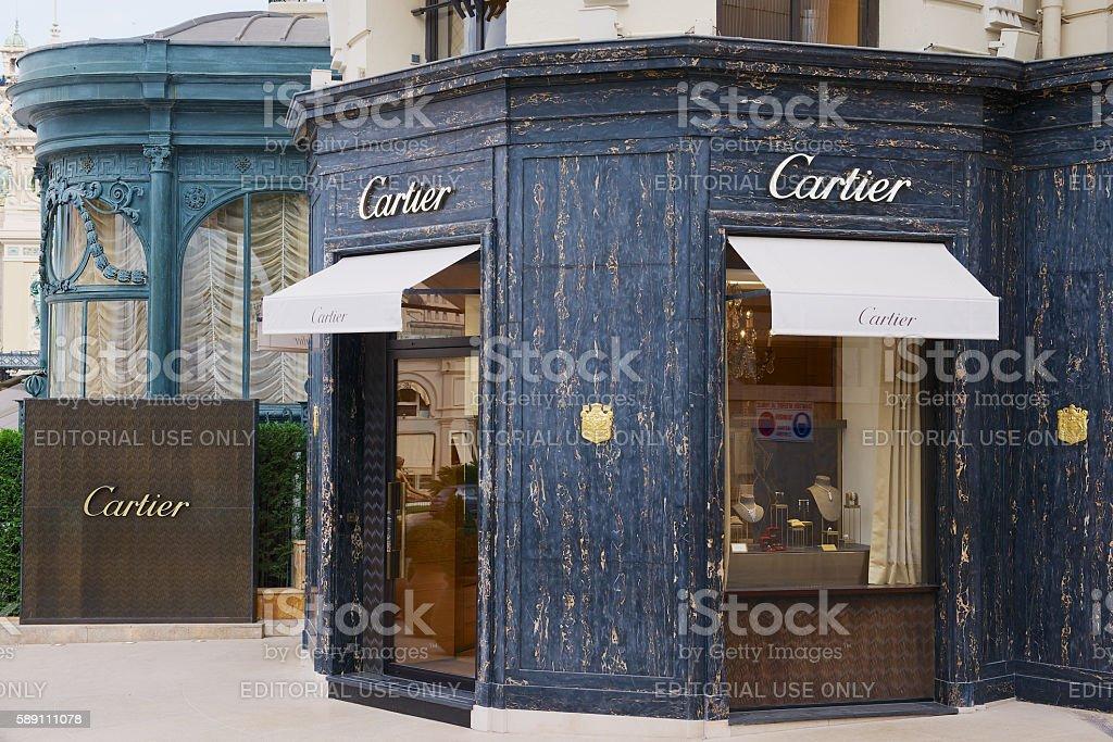 Luxury Cartier store near famous Monte Carlo Casino, Monaco. stock photo