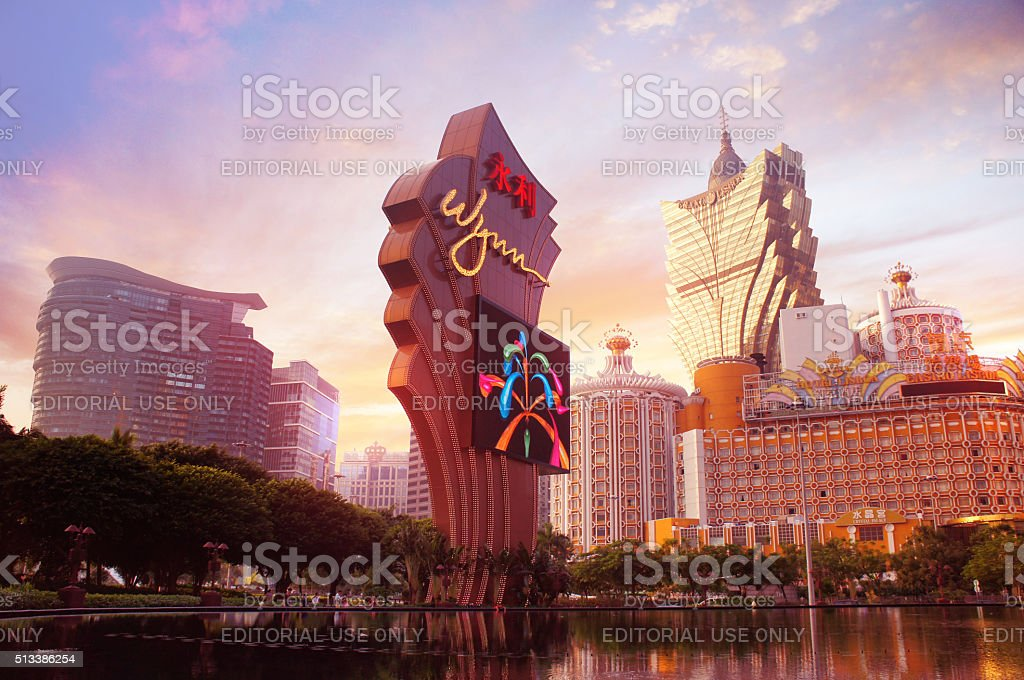 Luxury casino resorts in the Macau stock photo