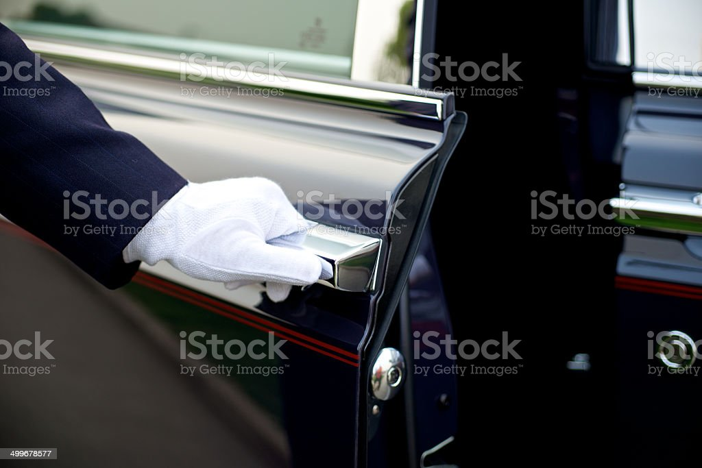 Luxury Chauffeur service stock photo