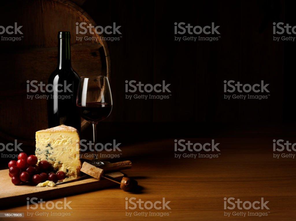 Luxury Cheese and Wine stock photo