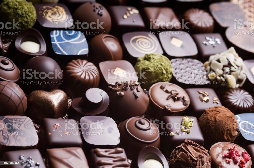Luxury chocolate stock photo
