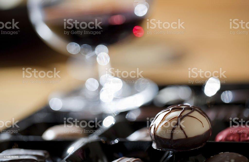 Luxury chocolates stock photo