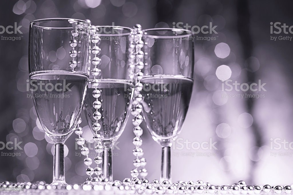 Luxury Christmas toast royalty-free stock photo