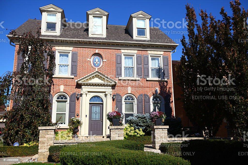 Luxury classic Richmond Hill real estate stock photo
