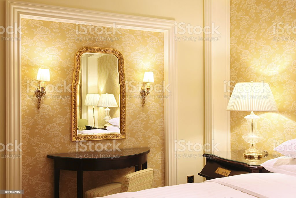 Luxury Classical Bedroom royalty-free stock photo