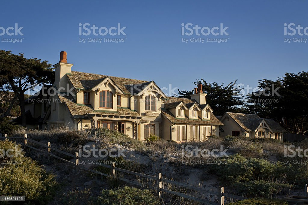 Luxury Coastal House royalty-free stock photo