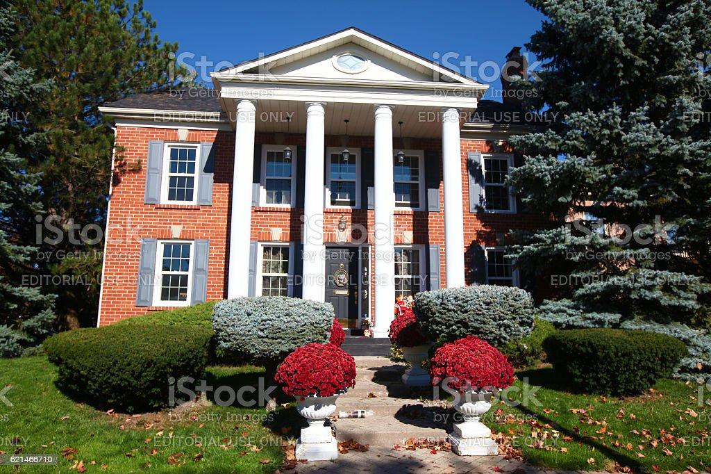 Luxury colonial Ontario house stock photo