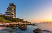 luxury condo in Pattaya city with sunset time
