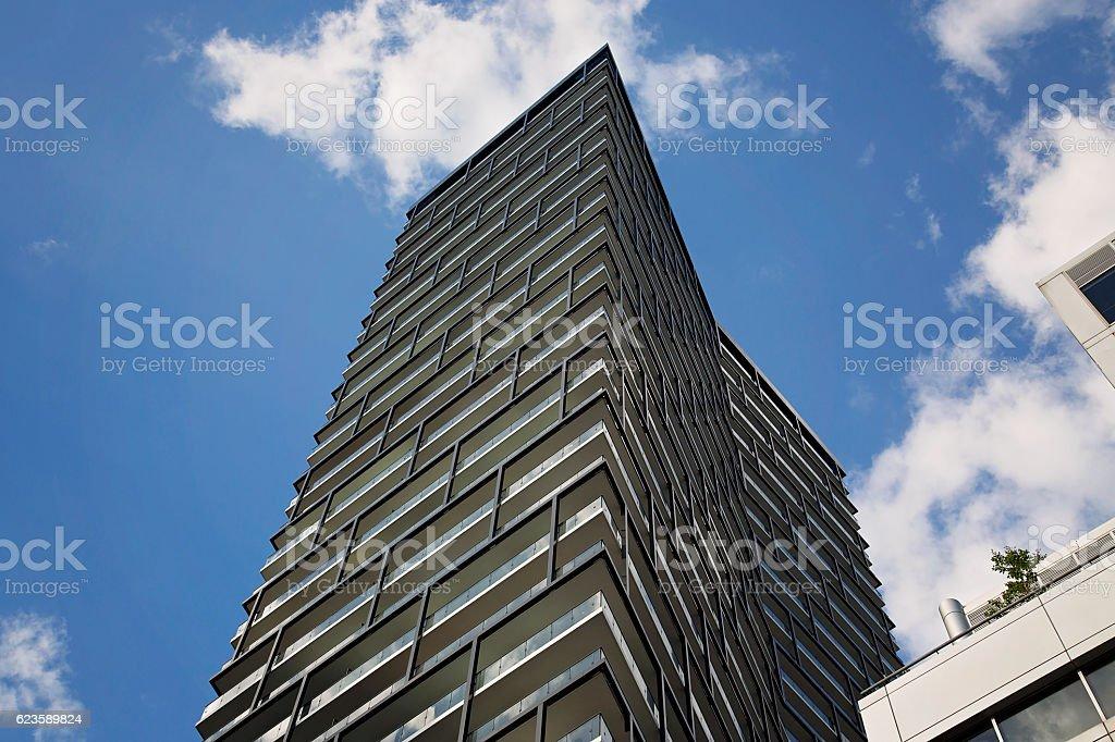 Luxury condominium on a bright sunny day stock photo