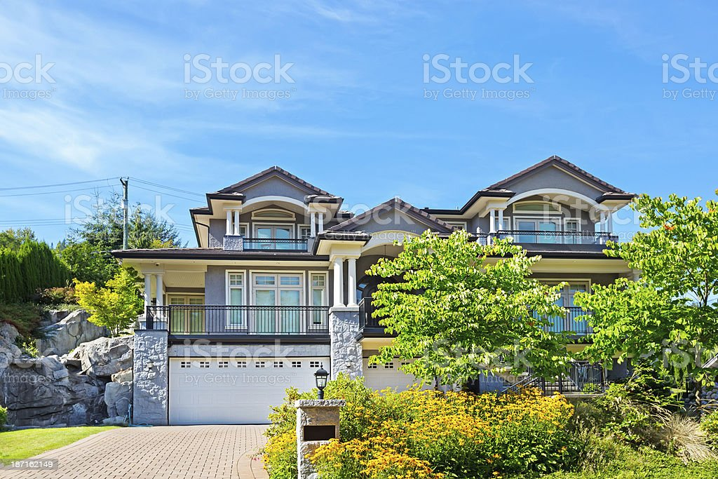 Luxury contemporary home royalty-free stock photo