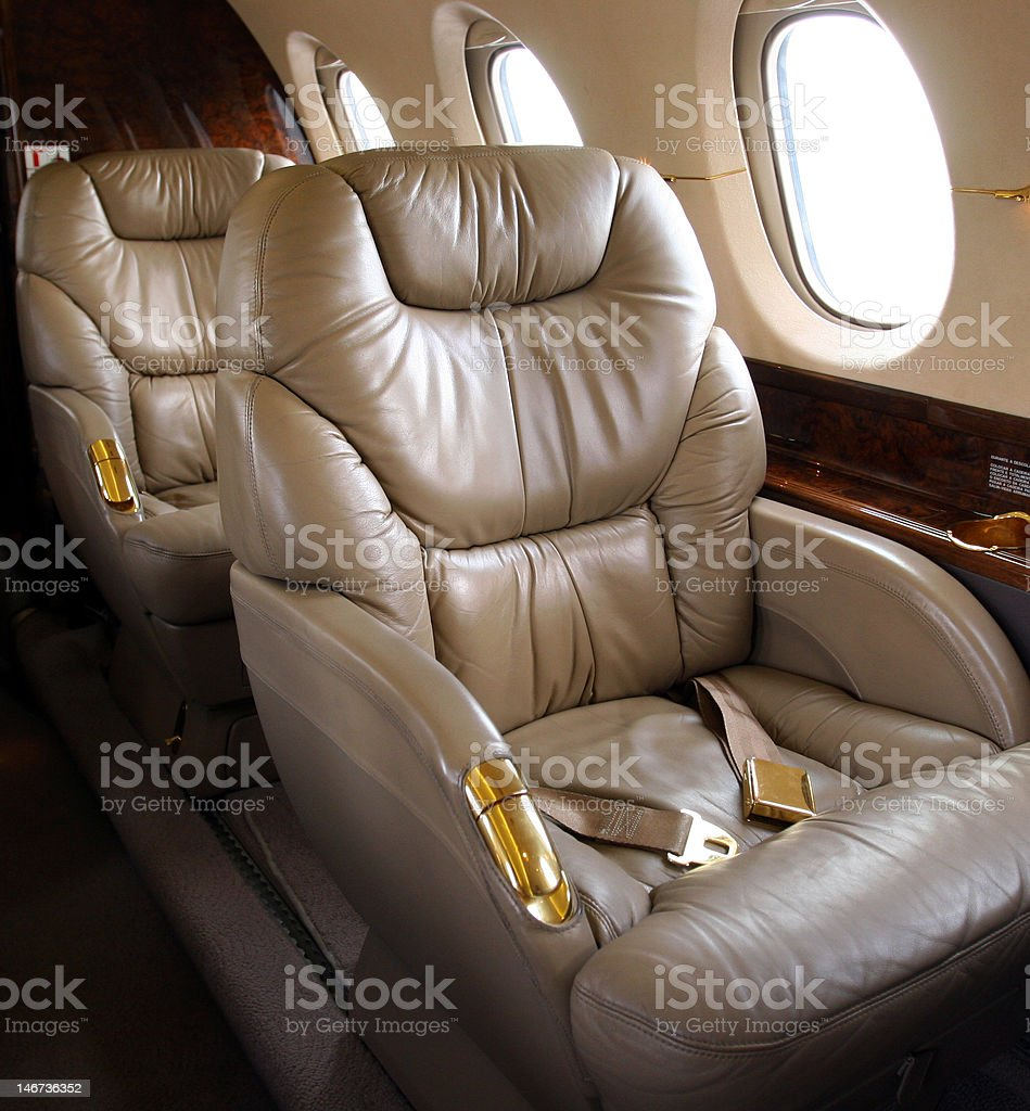 Luxury Corporate Jet Interior stock photo