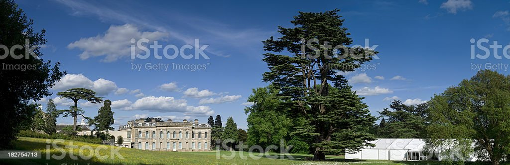 Luxury country home, England, panorama. royalty-free stock photo