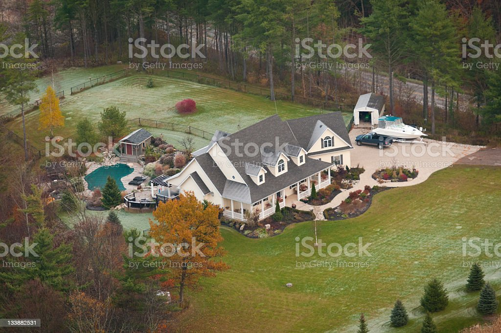 Luxury country home stock photo