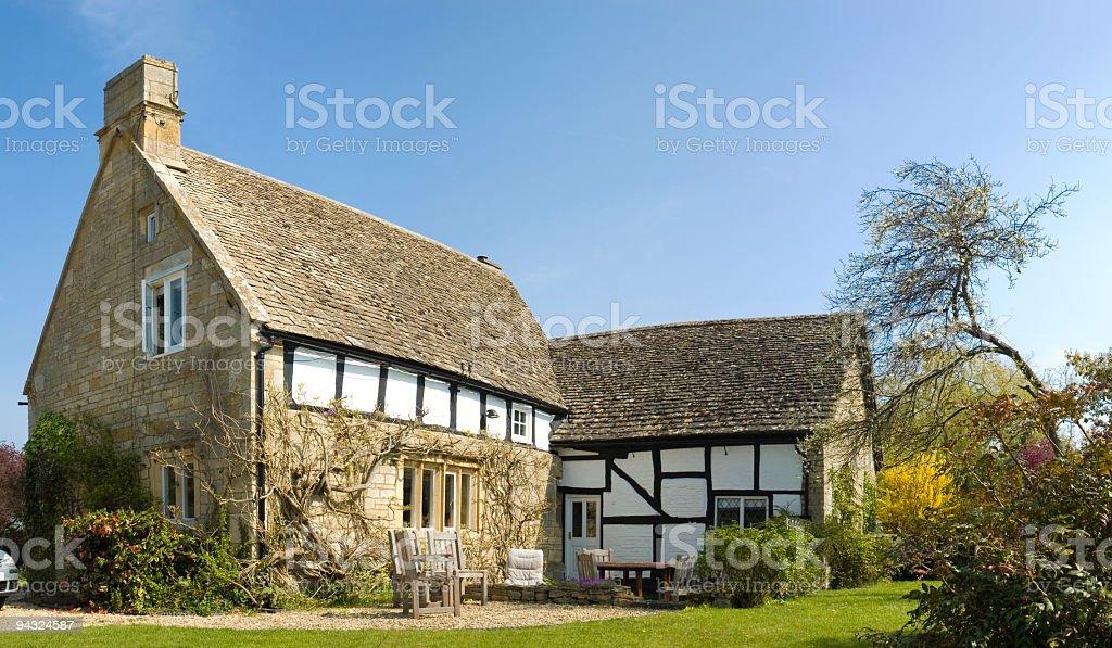 Luxury country home stock photo