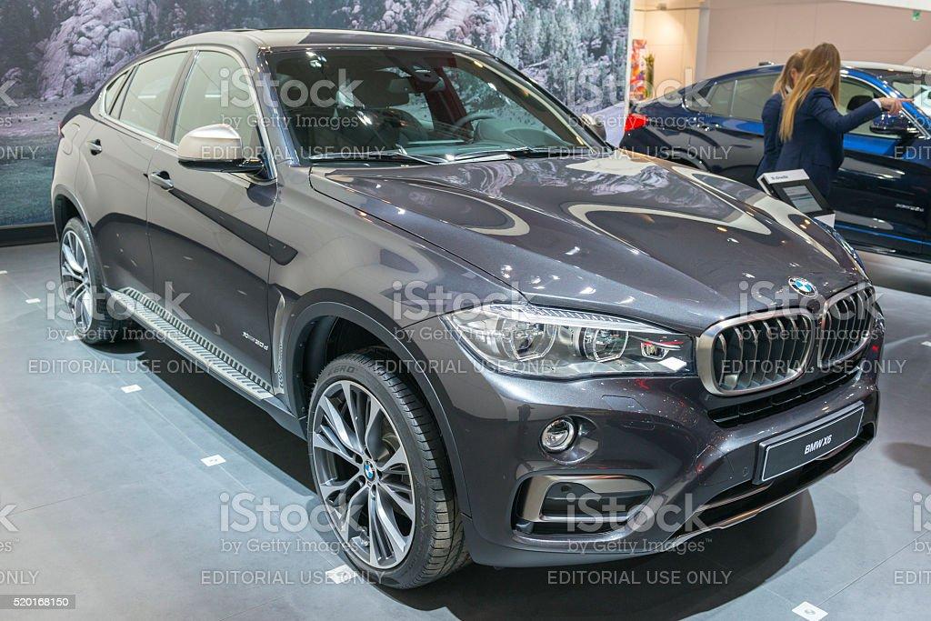 BMW X6 luxury crossover SUV stock photo
