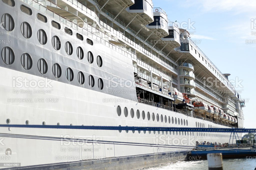luxury cruise ship moored at cobh stock photo