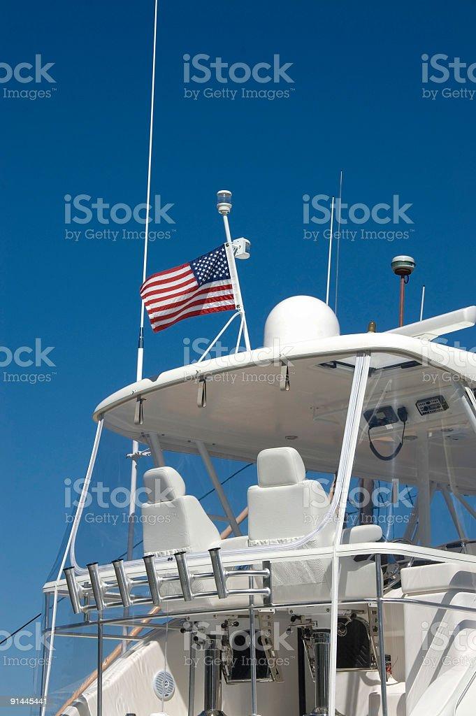 Luxury cruising boat. royalty-free stock photo