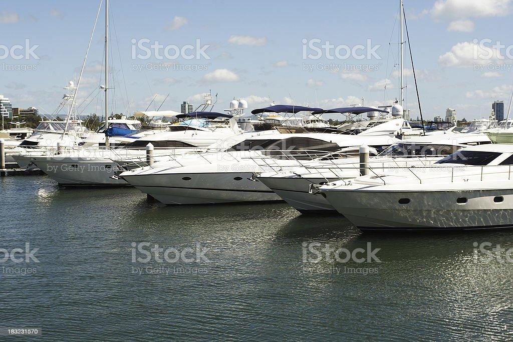 luxury cruising yachts royalty-free stock photo