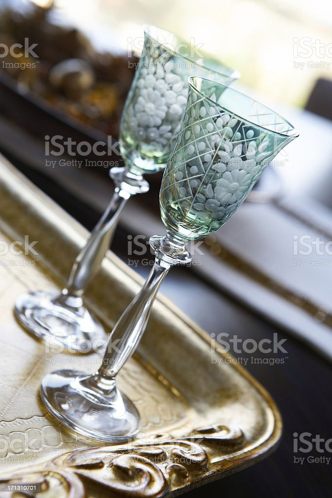 Luxury Crystal Glasses royalty-free stock photo