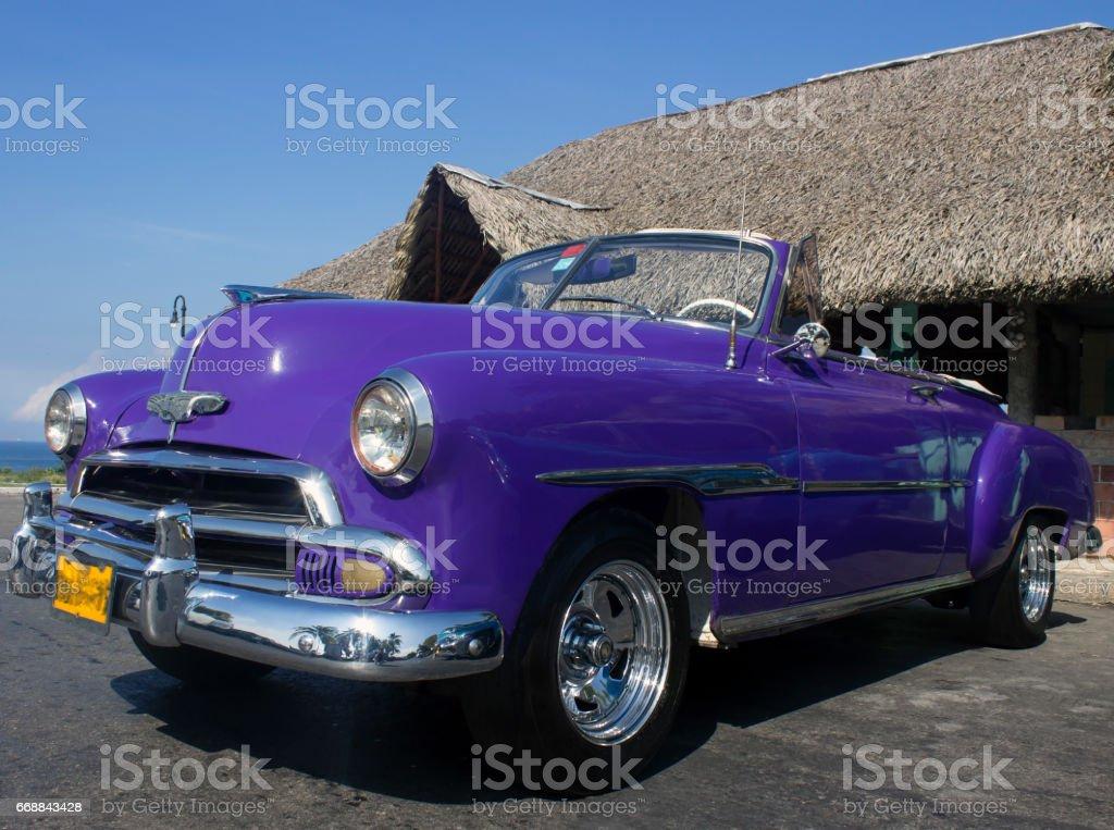 Luxury cuban cars stock photo