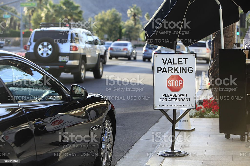 Luxury Curbside Valet Parking royalty-free stock photo