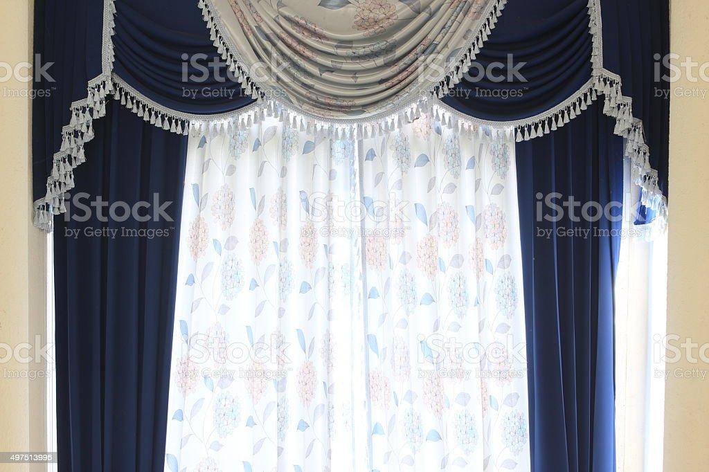 Luxury curtain. stock photo
